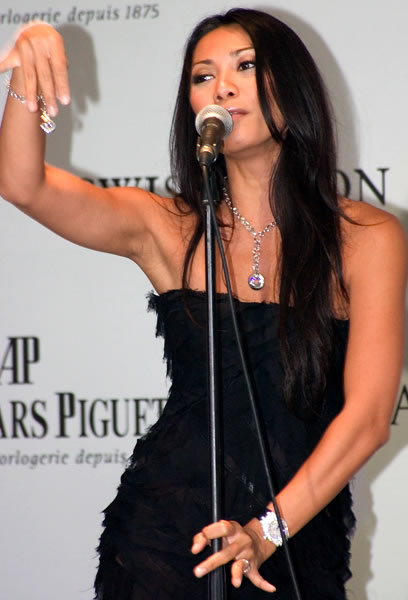 Anggun at the promotion of the